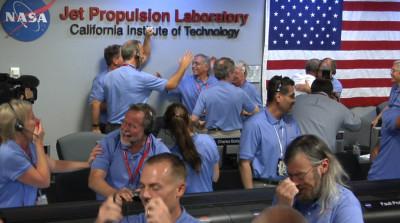 Curiosity lands in Mars
