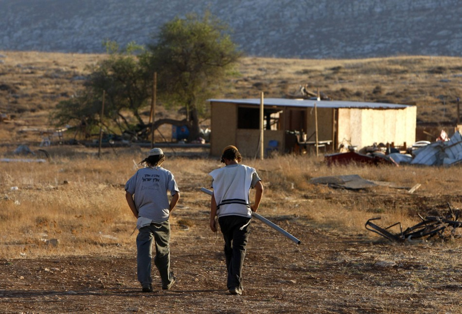 Two Israeli Settlers in the West Bank