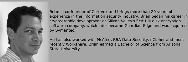 Brian Spector, CEO of CertiVox