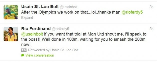 Bolt-Ferdinand tweet