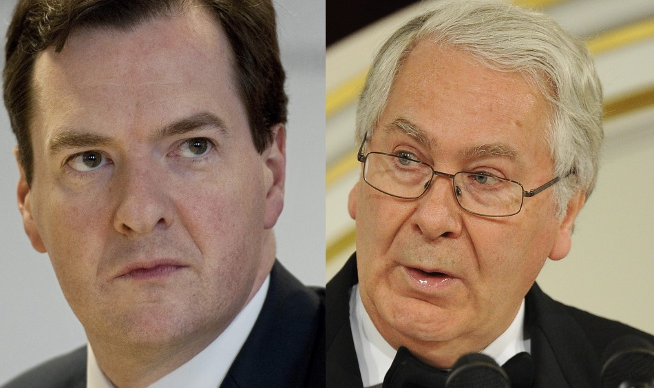 George Osborne Mervyn King