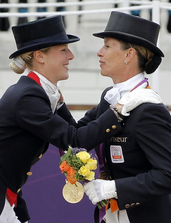 Netherlands' Anky van Grunsven celebrates Bechtolsheimer