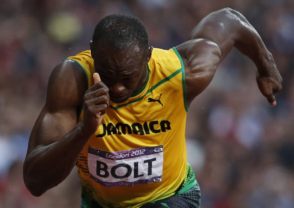 Jamaica's Usain Bolt at the London 2012 Olympic Games