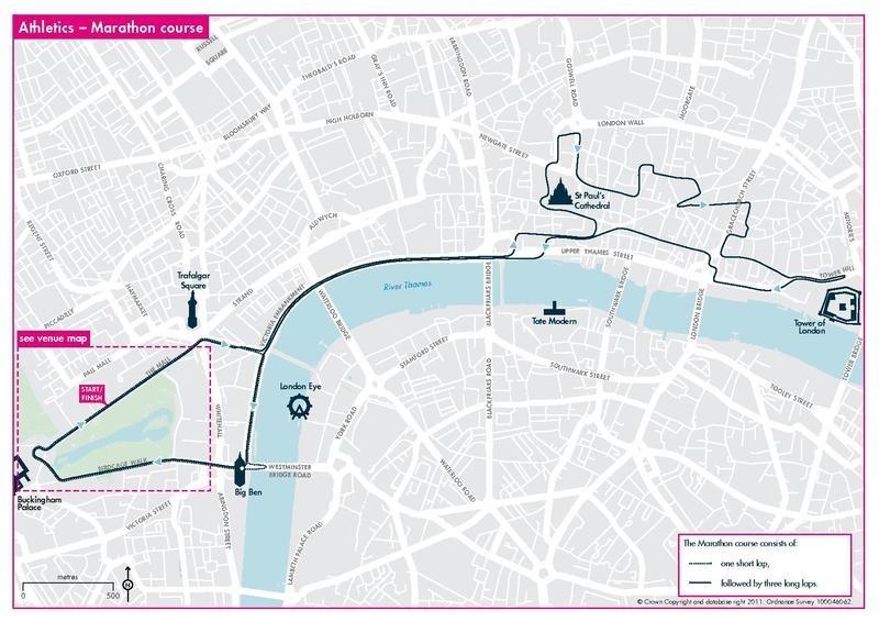 Olympics marathon route