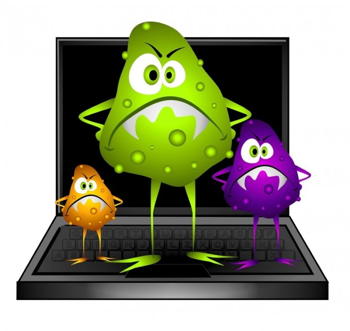 Virus malware infected computer generic image clip art