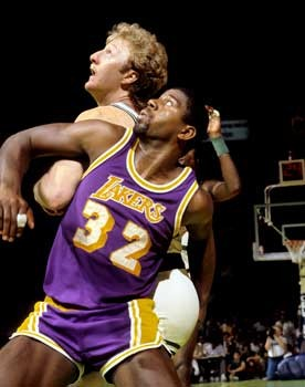 Earvin quotMagicquot Johnson and Larry Joe Bird