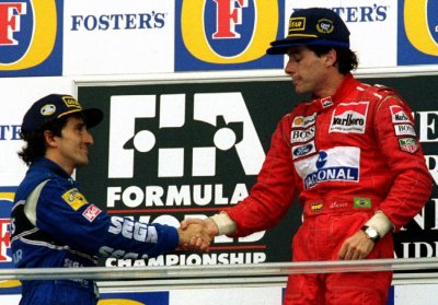 Ayrton Senna and Alian Prost