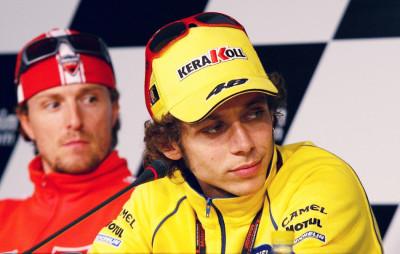Valentino Rossi and Sete Gibernau