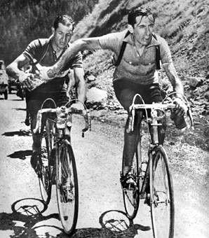 Fausto Coppi and Gino Bartali