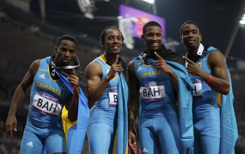 Bahamas wins 4x400m relay final