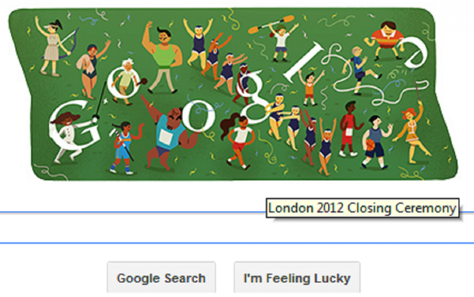Google Doodle on London 2012 Closing Ceremony