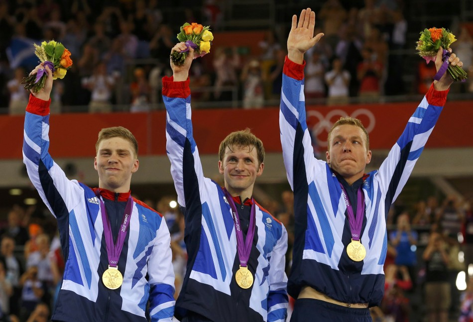 Sir Chris Hoy, Philip Hindes and Jason Kenny