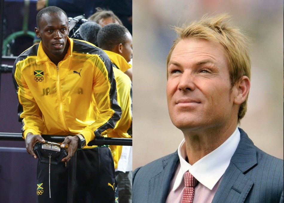 Usain Bolt and Shane Warne