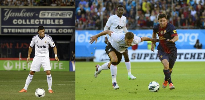 Cristiano Ronaldo (L) vs Leo Messi (R)