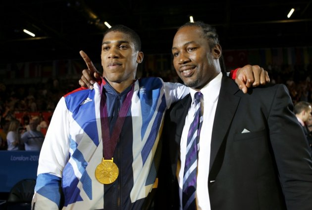 Anthony Joshua and Lennox Lewis