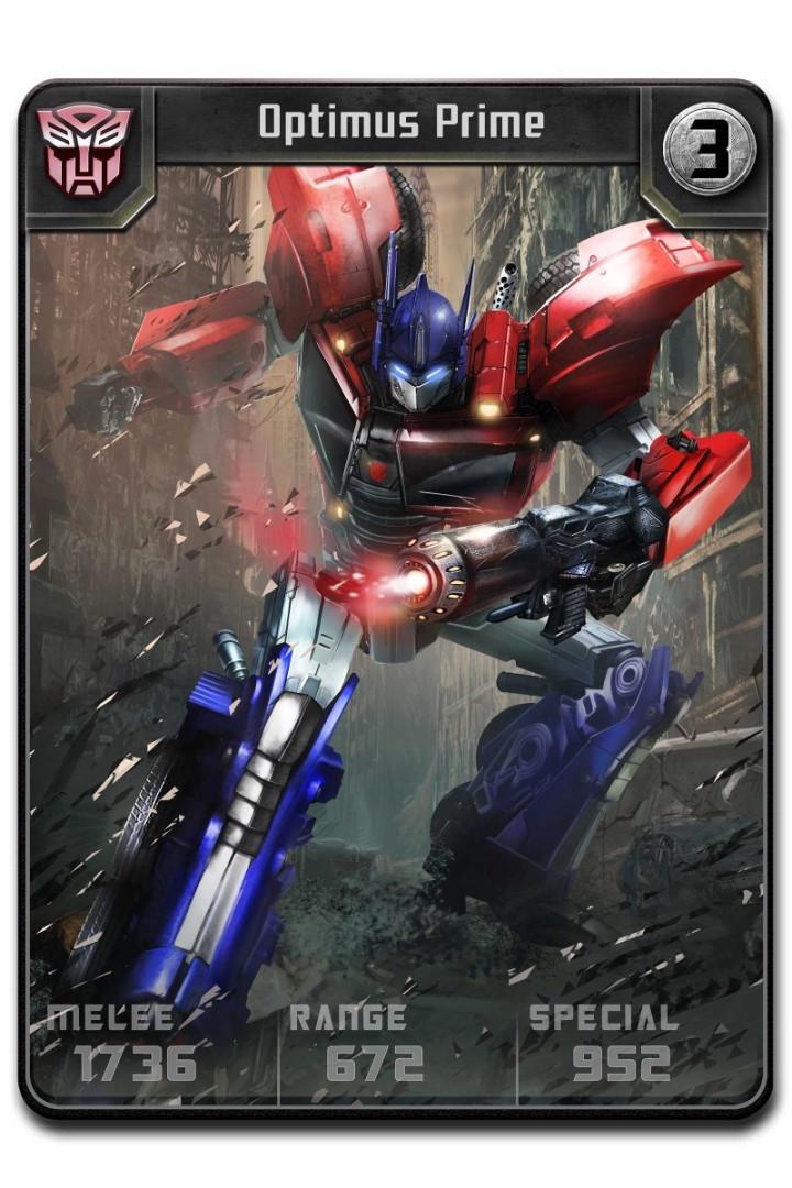 Transformers Battle Game Optimus_rare_melee