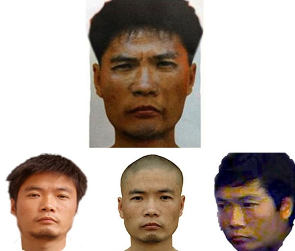 A set of photos of the suspect, provided by police in Changsha  Read more: http://www.businessinsider.com/zhou-kehua-china-is-gripped-by-the-hunt-for-the-fugitive-cop-killing-bank-robber-2012-8