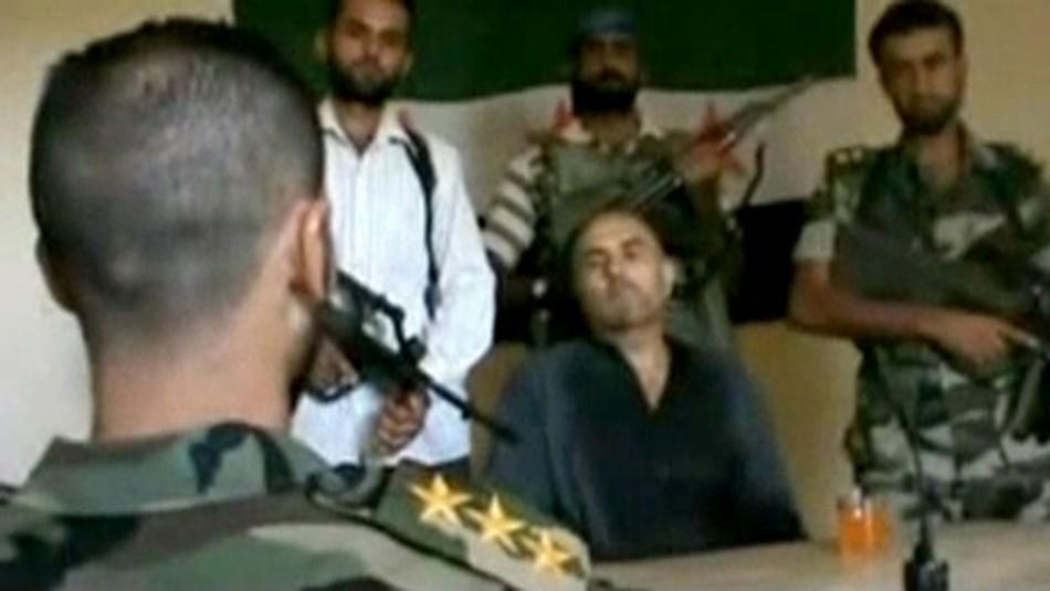 Syrian Rebels Parades Captured Pilot