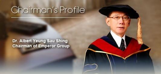 Dr Albert Yeung Sau Shing Chairman Emporer Group