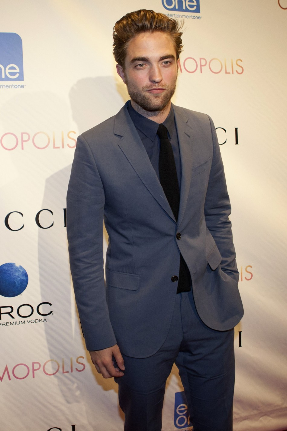 "Cast member Robert Pattinson arrives for the premier of the film ""Cosmopolis"" in New York,"