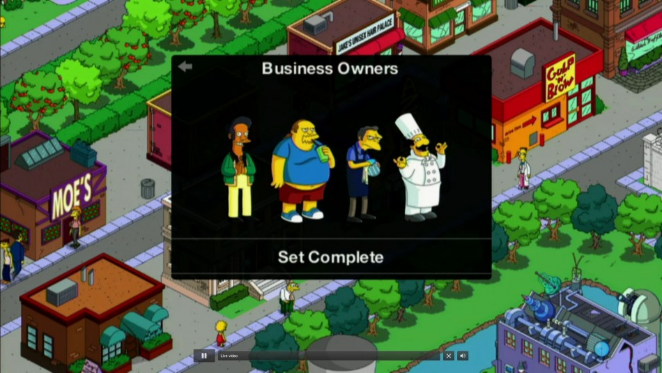 EA Simpsons Game Tapping Out