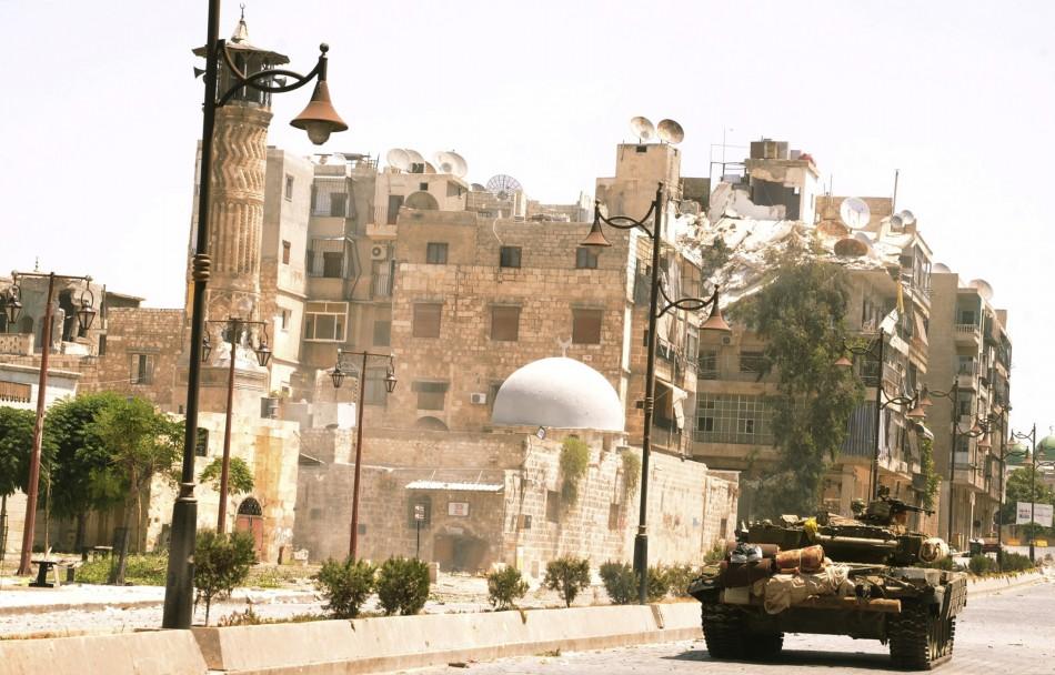 A tank in al-Sijen