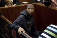 Xolile Mngeni, charged with the murder of Anni Dewani during a honeymoon visit to South Africa in 2010, appears in court in Cape Town, Reuters
