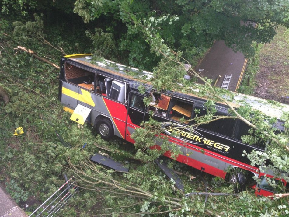Coach crash in Bath