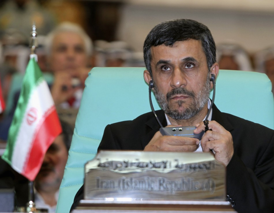 Iranian President Mahmoud Ahmadinejad looks on at the opening ceremony of the OIC summit in Mecca, Reuters