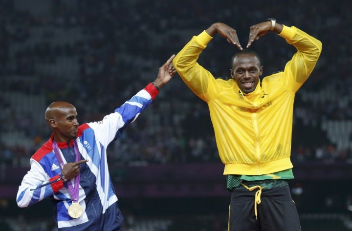 Mo Farah and Usian Bolt