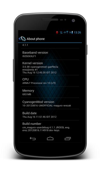 Galaxy Nexus i9250 Gets Jelly Bean with CyanogenMod 10 Nightly ROM [How to Install]