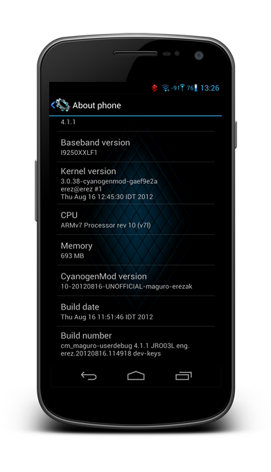 Galaxy Nexus i9250 Gets Jelly Bean with CyanogenMod 10 Nightly ROM [How to Install]