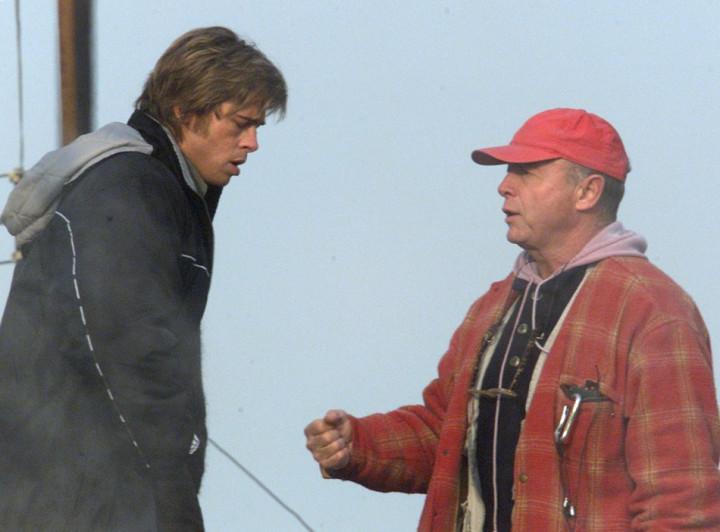 Tony Scott and Brad Pitt