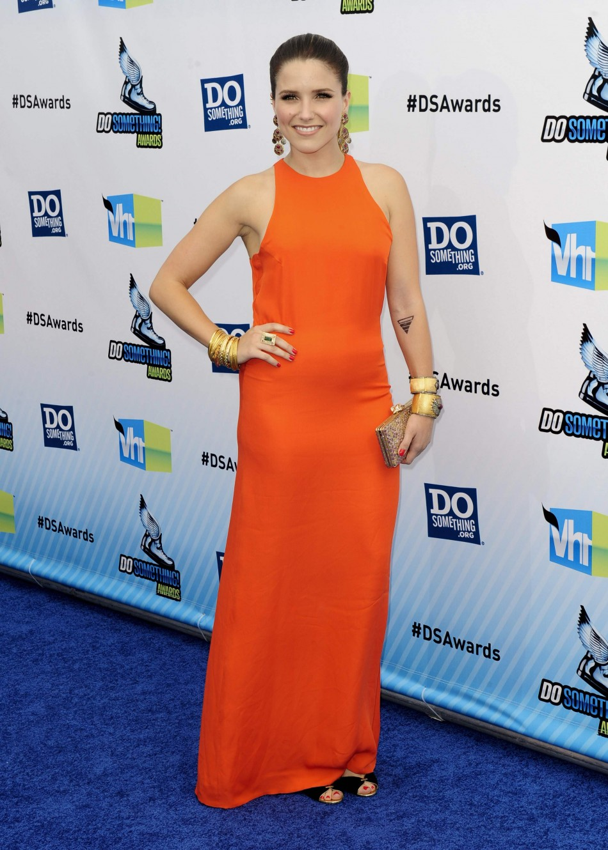 "Actress Sophia Bush arrives at the ""Do Something Awards"" in Santa Monica, California August 19, 2012."