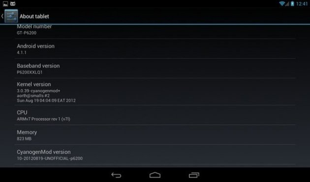 CM10 Based On Jelly Bean for Samsung Galaxy Tab Plus P6200/P6210 [How to Install]