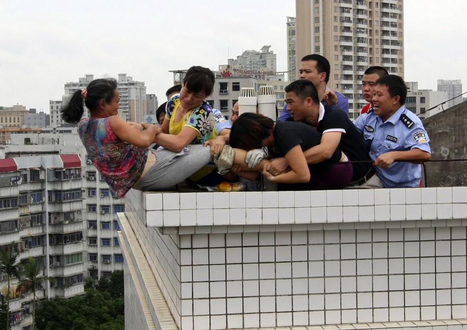 China suicide attempt