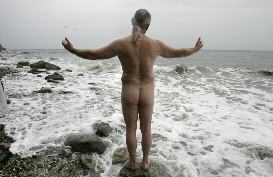 Nudist Swimmer