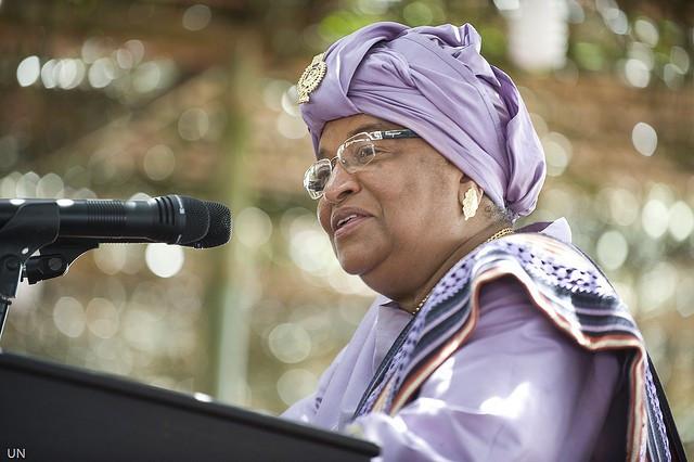 President of Liberia Ellen Johnson Sirleaf