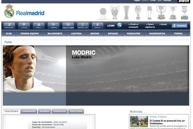 Luka Modric - Real Madrid page