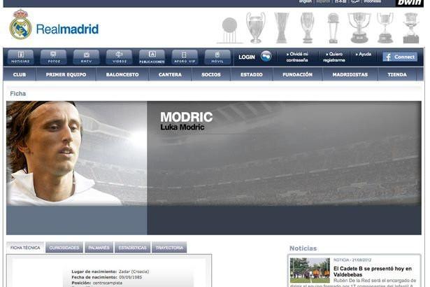 Luka Modric - Real Madrid page