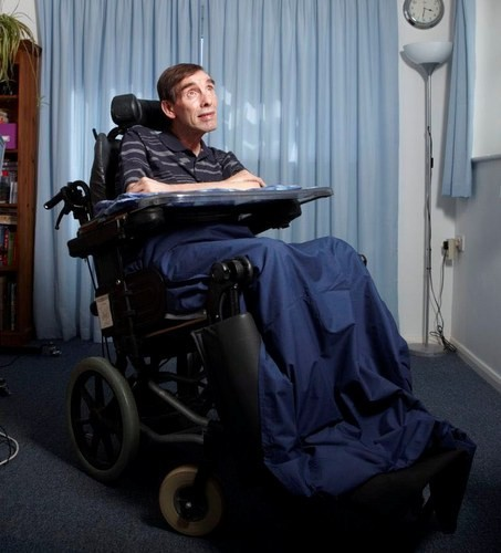 Tony Nicklinson was left paralysed following a stroke in 2005 (Twitter)