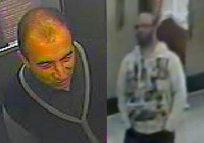 CCTV images of the two men accused of raping a 14-year-old boy at a Debenhams store in Manchester. (GMP)