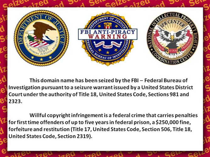 FBI closes sites