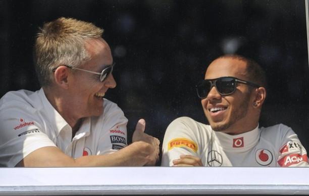 Martin Whitmarsh and Lewis Hamilton