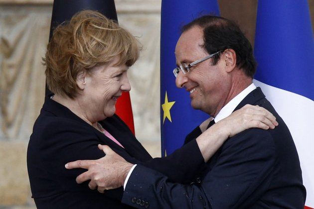 France's President Hollande and German Chancellor Merkel
