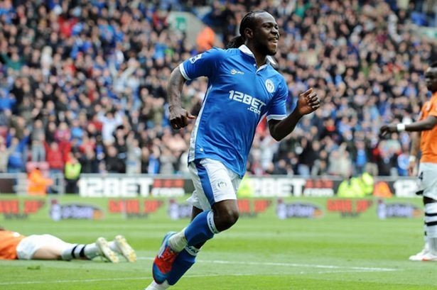 Wigan Athletic's Victor Moses