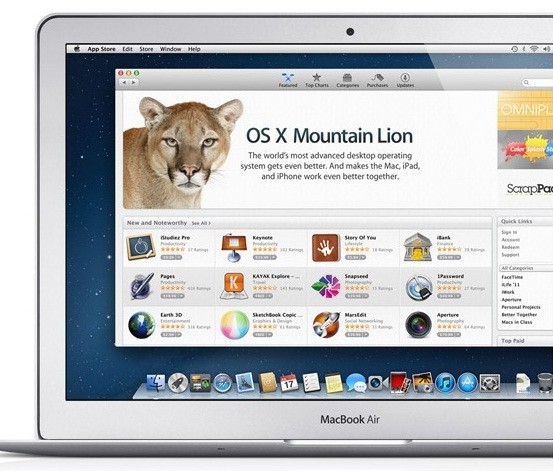 Apple Seeds OS X Mountain Lion 10.8.2 Beta for Developers