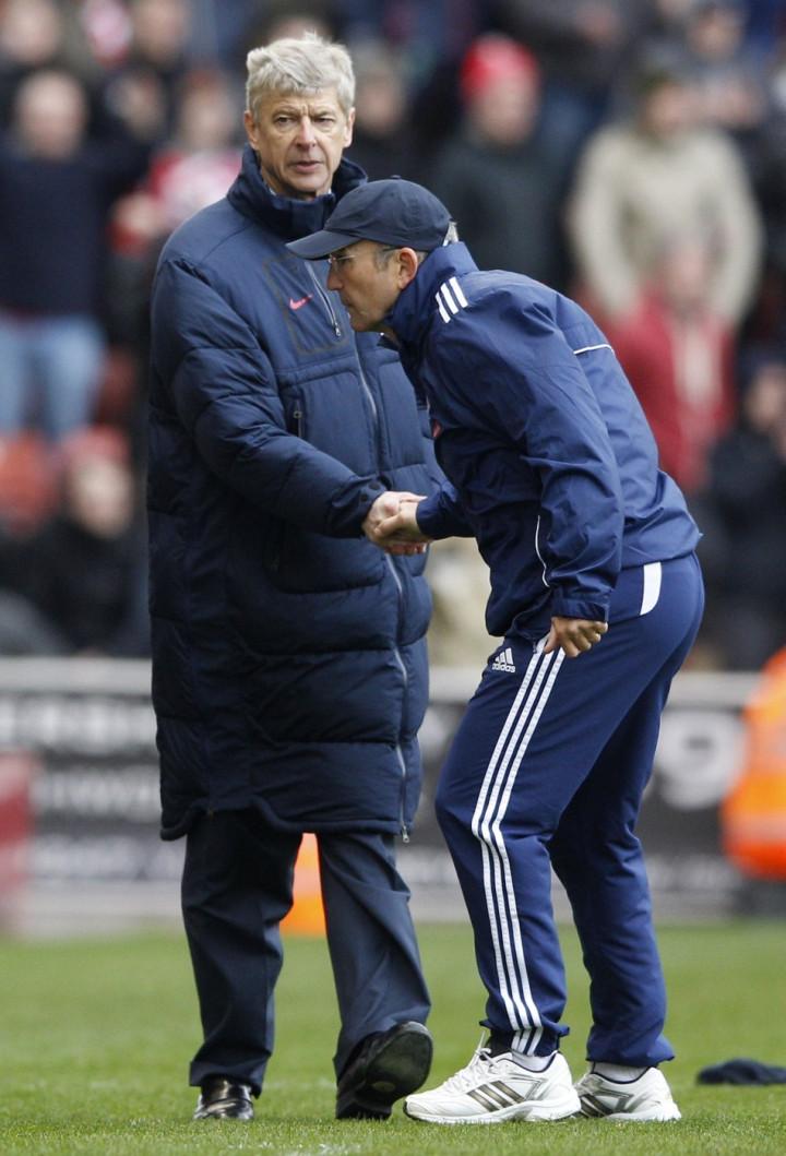 Arsene Wenger and Tony Pulis