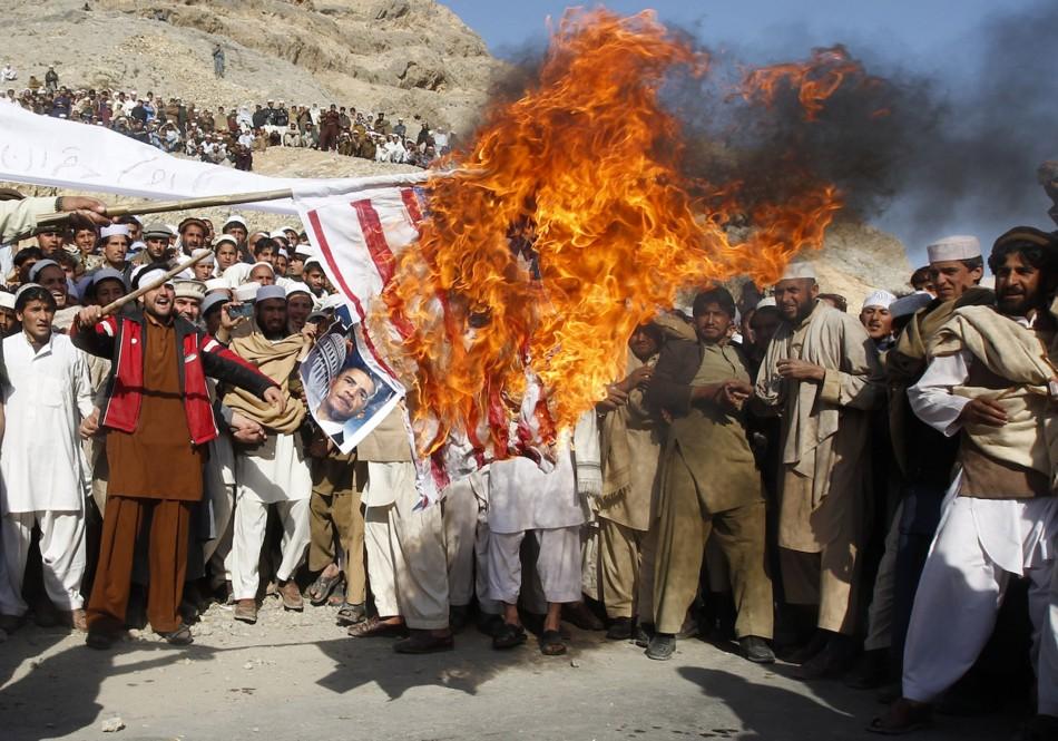 Protest over Koran burning