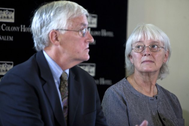 Craig and Cindy Corrie, parents of Rachel who was killed by an Israeli army bulldozer in 2003